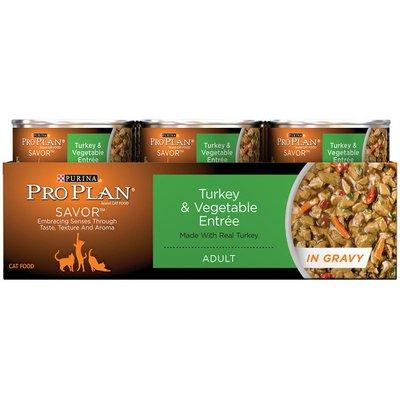 Pro Plan Cat Wet Savor Adult Turkey & Vegetable Entree in Gravy Cat Food