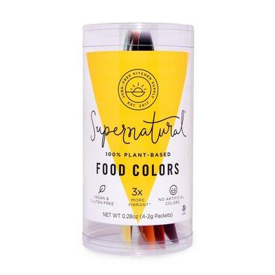Supernatural Pomegranate, Magic Blackberry, Yellow, Orange 100% Plant-based Food Colors