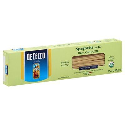 De Cecco Spaghetti, No. 12, 100% Organic