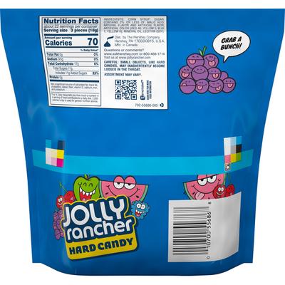 Jolly Ranchers Hard Candy, Blue Raspberry, Green Apple, Cherry, Grape, and Watermelon