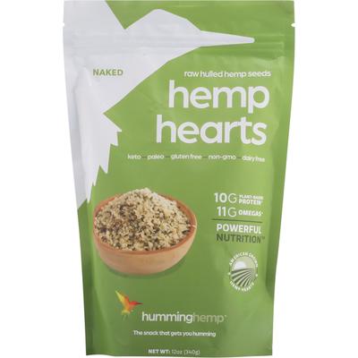 Humming Hemp Hemp Seeds, Raw Hulled, Hemp Hearts, Naked