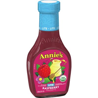Annie's Lite Raspberry Vinaigrette Salad Dressing, Certified Organic