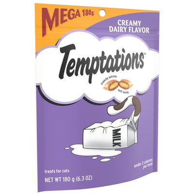 Temptations Crunchy and Soft Cat Treats Creamy Dairy Flavor
