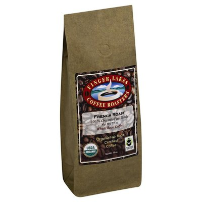 Finger Lakes Coffee Roasters Coffee, Organic/Fair Trade Certified, Whole Bean, French Roast