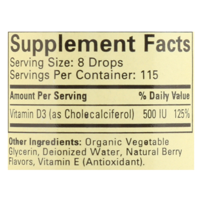 Child Life Vitamin D3, Natural Berry Flavor