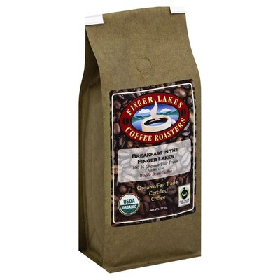 Finger Lakes Coffee Roasters Coffee, Organic/Fair Trade Certified, Whole Bean, Breakfast in the Finger Lakes