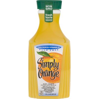 Simply Orange Juice Calcium Bottle