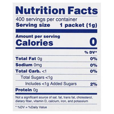 Splenda Sweetener, Zero Calorie, Packets