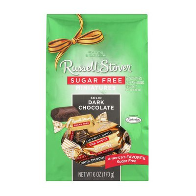 Russell Stover Miniatures Sugar Free Solid Dark Chocolate