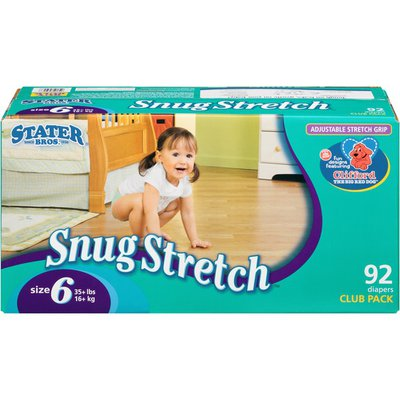 Stater Bros. Markets Snug Stretch Size 6 Club Pack Diapers