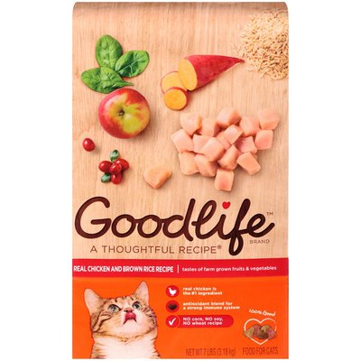 Goodlife Real Chicken and Brown Rice Recipe Dry Cat Food