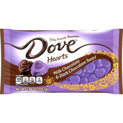Dove PROMISES Valentines Day Hearts Milk Chocolate & Dark Chocolate Valentine Candy