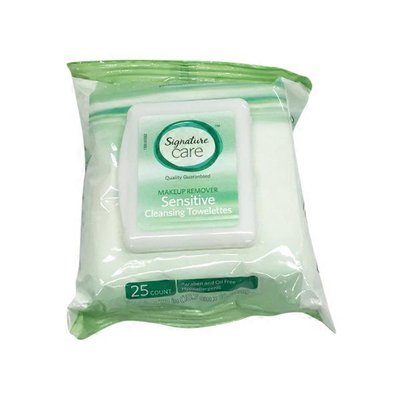 Signature Care Sensitive Cleansing Towelettes, Fragrance Free