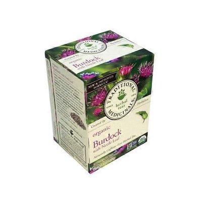 Traditional Medicinals Organic Caffeine Free Herbal Tea Supplement, Burdock With Nettle Leaf