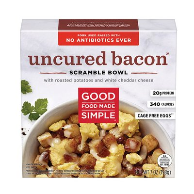 Good Food Made Simple Uncured Bacon & Eggs Scramble Bowl