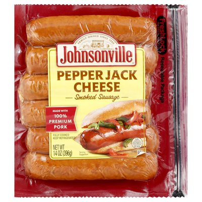 Johnsonville Sausage, Smoked, Pepper Jack Cheese