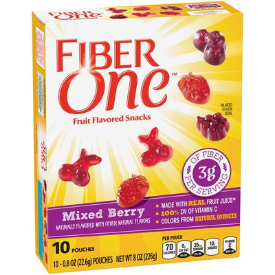 Fiber One Mixed Berry Fruit Flavored Snacks