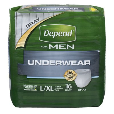 Depend Underwear Maximum Absorbency Extra LG For Men 16