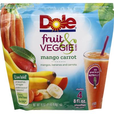 Dole Fruit & Veggie Blends, Mango Carrot