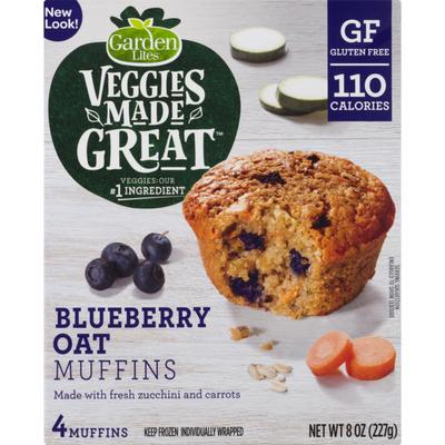 Garden Lites Veggies Made Great Muffins Blueberry Oat