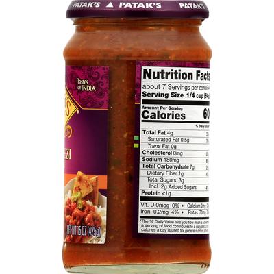 Pataks Simmer Sauce, Jalfrezi Curry, Medium