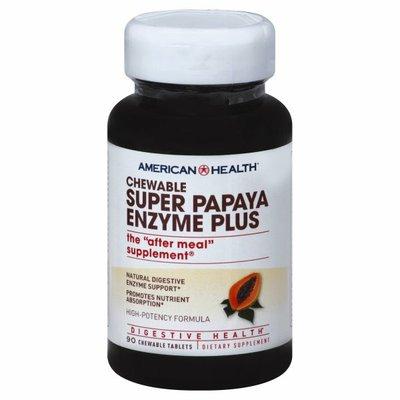 American Health Super Papaya Enzyme Plus, Chewable Tablets