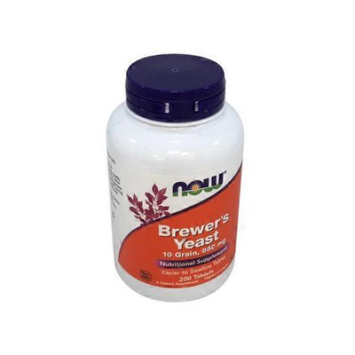 Now Brewer's Yeast 10 Grain, 650 mg Nutritional Dietary Supplement Easier to Swallow Tablets
