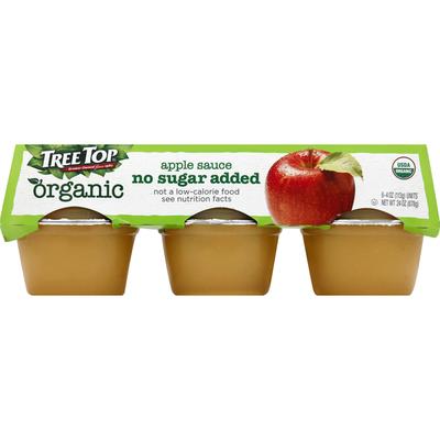 Tree Top Apple Sauce, No Sugar Added, Organic