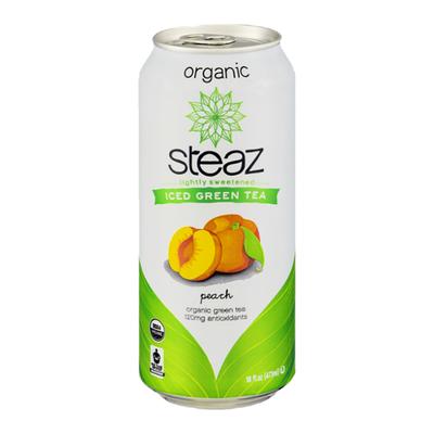 Steaz Green Tea, Organic, Peach, Antioxidant Brew