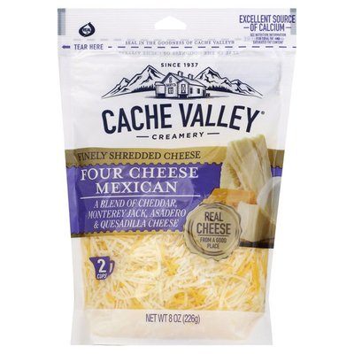 Cache Valley Four Cheese Mexican Finely Shredded Cheese