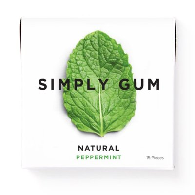 Simply Gum Gum, Natural, Peppermint