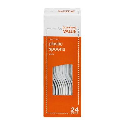 Guaranteed Value Heavy Duty Plastic Spoons - 24 CT