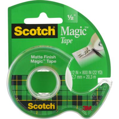 "Scotch Magic Tape Matte Finish 1/2"""