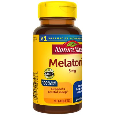 Nature Made Melatonin 5 mg Tablets