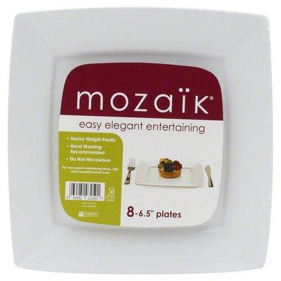 Mozaik Plates, Heavy Weight Plastic, 6.5 Inch