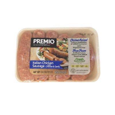 Premio Antibiotic Free Cheese Garlic Chicken Sausage