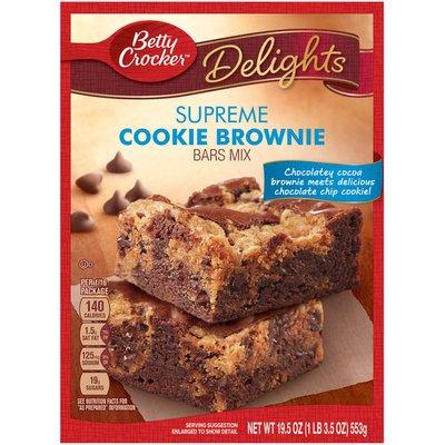 Betty Crocker Delights Dessert Bar Mix Supreme Cookie Brownie