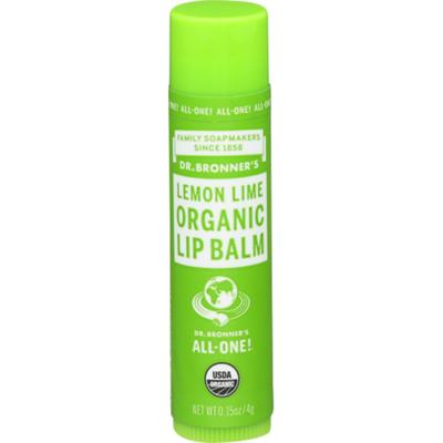 Dr. Bronner's Organic Lip Balm Lemon Lime
