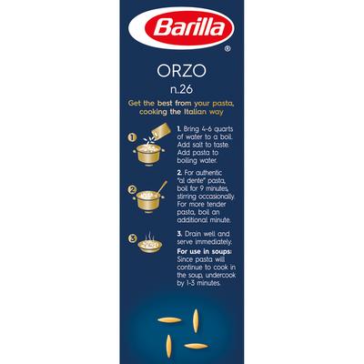 Barilla® Classic Blue Box Soup Pasta Orzo