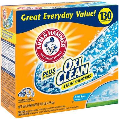 Arm & Hammer Arm  Hammer Plus Oxiclean Powder Laundry Detergent, Fresh Scent, 130 Loads
