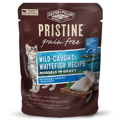 Castor & Pollux Grain Free Wild-caught Whitefish Recipe Morsels In Gravy Adult Cat Food