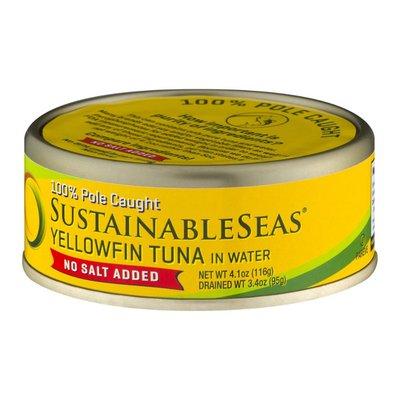 Sustainable Seas Yellowfin Tuna In Water No Salt Added
