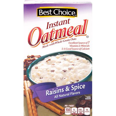 Best Choice Raisins & Spice Instant Oatmeal