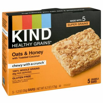 KIND Healthy Grains Granola Bars, Oats & Honey, with Toasted Coconut
