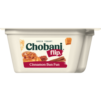 Chobani Yogurt, Greek, Cinnamon Bun Fun