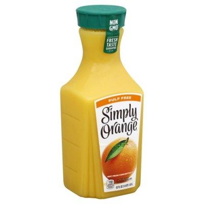 Simply Orange Original Pulp Free 100% Orange Juice