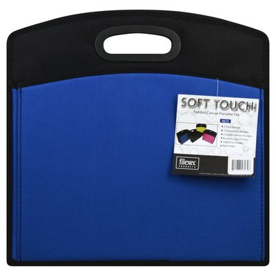 Filexec Products Portable File, Padded Canvas, Soft Touch