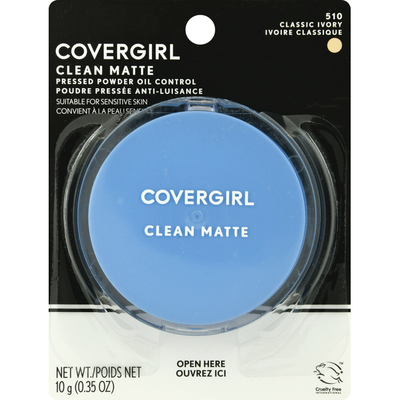CoverGirl Pressed Powder, Oil Control, Classic Ivory, 510
