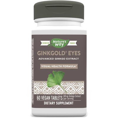 Nature's Way Ginkgold Eyes, Plus Lutein, Tablets