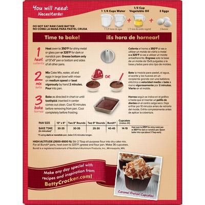Betty Crocker Super Moist German Chocolate Cake Mix